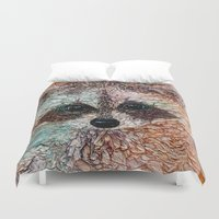 kit king Duvet Covers featuring Kit by Col Mitchell Paper Artist