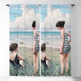 12,000pixel-500dpi - Paul Gustav Fischer - Two Friends. Beach Scene - Digital Remastered Edition Blackout Curtain