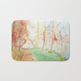 Autumn forest Bath Mat