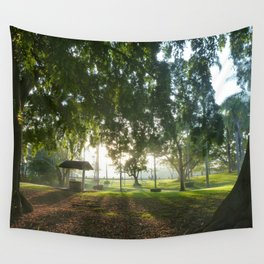 Misty Morning- Queens Park, Maryborough QLD Wall Tapestry