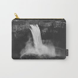 Palouse Falls Black and White Carry-All Pouch
