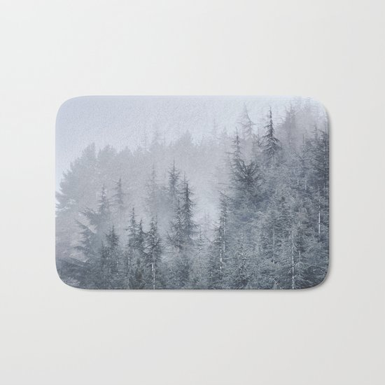Early moorning... Into the woods Bath Mat