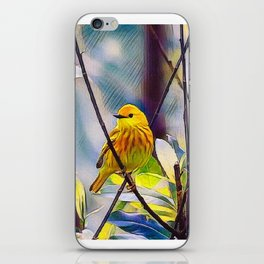 Sweet Yellow Warbler iPhone Skin