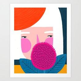 Spy lady Art Print