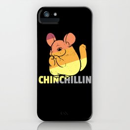 Chinchilla wooly mice Cute Vintage Retro iPhone Case