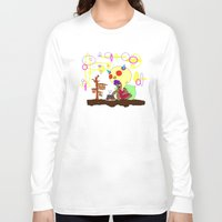 cook Long Sleeve T-shirts featuring Spirit Cook by Gphayt
