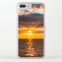 Sunrise over lake Ladoga Clear iPhone Case
