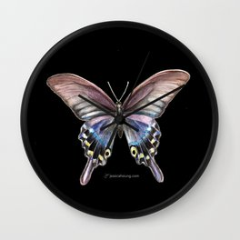 Tiger Swallowtail Butterfly - Black Wall Clock