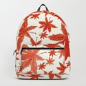 red maple leaves pattern by colorandcolor