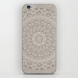 Mandala - Taupe iPhone Skin