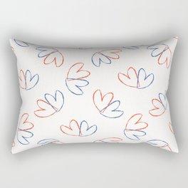 Brush Stroke Lovers Hearts Tossed Seamless Pattern Rectangular Pillow