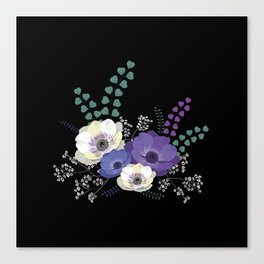 Anemones bouquet Canvas Print