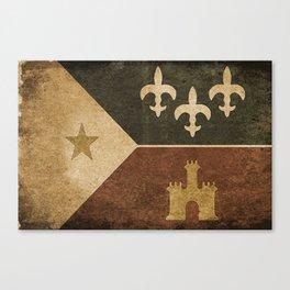 Acadian Flag Canvas Print