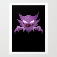 Purple Haunting  Art Print