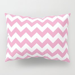 Light Pink Chevron Pattern Pillow Sham
