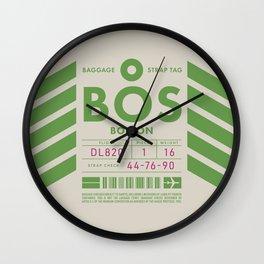 Luggage Tag D - BOS Boston USA Wall Clock