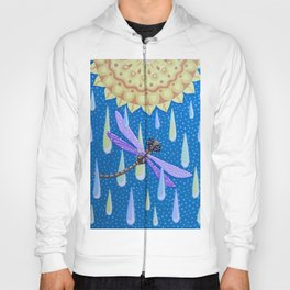 Dragonfly Dance in the Rain Hoody