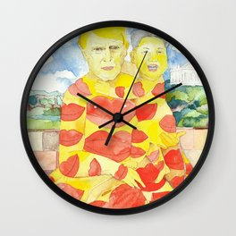 Donald and Kim, a Love Story Wall Clock