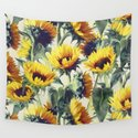 Sunflowers Forever Tapestry by micklyn by society6
