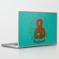grateful dead Laptop & iPad Skins featuring Grateful Dead, Jerry Garcia by Burnish and Press