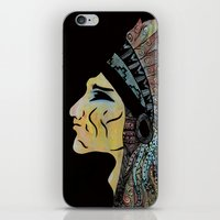 native american iPhone & iPod Skins featuring Native by Red Dust