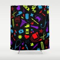 nurse Shower Curtains featuring Cool Nurse by emodist