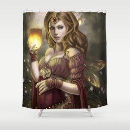 Floating Lights Shower Curtain