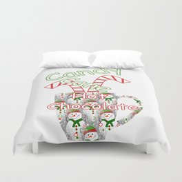 Candy Cane Hot Chocolate Duvet Cover