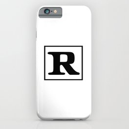 Rated R iPhone Case