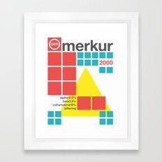 merkur single hop Framed Art Print