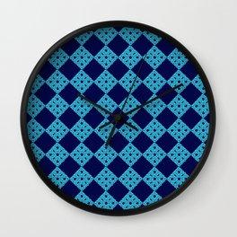 blue crochet crafts Wall Clock