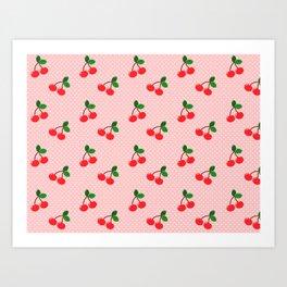 Cherry Bon Bon Art Print