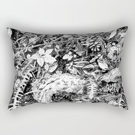 Inky Undergrowth Rectangular Pillow