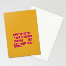 How to piss off your designer friends and give them migraine. Stationery Cards