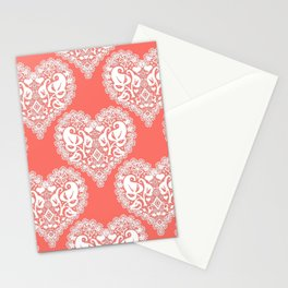 Lace heart Stationery Cards