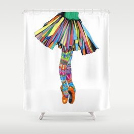 Happy Ballerina Shower Curtain