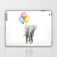 Baby Elephant with Balloons Nursery Animals Prints Whimsical Animal Laptop & iPad Skin