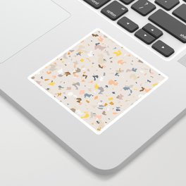 Lively Colorful Terrazzo Pattern Sticker