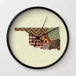 Oklahoma State Map Wall Clock