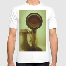 Can you hear me now? MEDIUM Mens Fitted Tee White