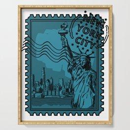 New York City Stamp Serving Tray