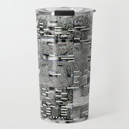 Highly Resolved Ghost (P/D3 Glitch Collage Studies) Travel Mug