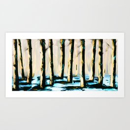 Yellowood Forrest Art Print