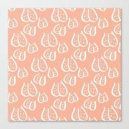 Balls Balls Balls Y'all - Pink/White Canvas Print