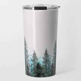 MOUNTAIN FOREST PINES LANDSCAPE  ART Travel Mug