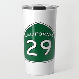 Hand Drawn Green California 29 Highway Sign Napa Valley Travel Mug