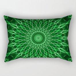 Mandala with dark and light green tones Rectangular Pillow