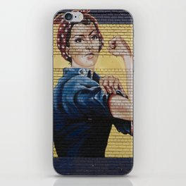 Rosie the Riveter Mural iPhone Skin