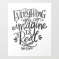 imagine Art Prints featuring IMAGINE by Matthew Taylor Wilson
