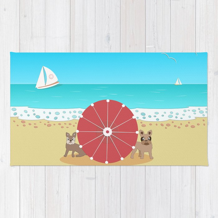 Holiday Romance - Behind the Red Umbrella Rug